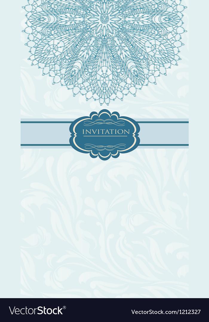 Beautiful blue invitation card vector | Price: 1 Credit (USD $1)
