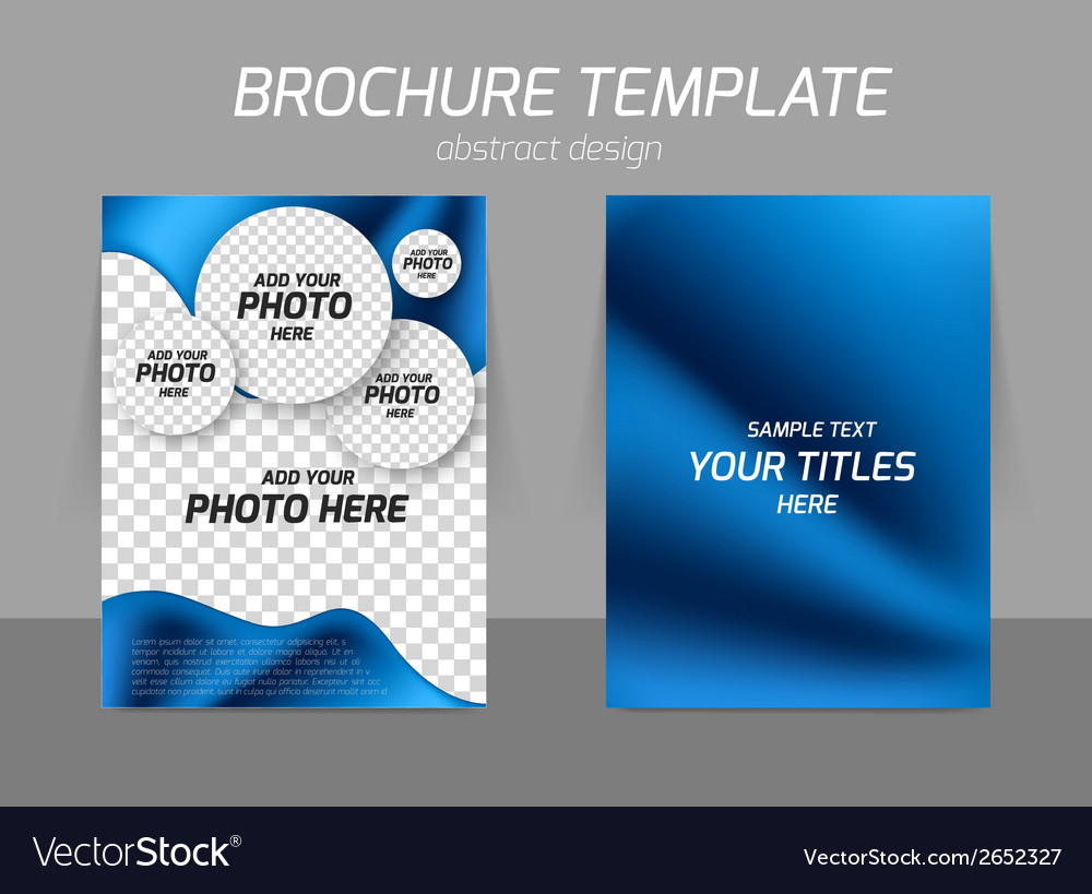 Blue flyer template design vector
