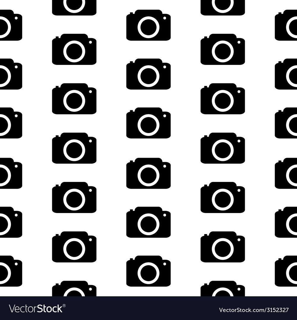 Camera symbol seamless pattern vector   Price: 1 Credit (USD $1)