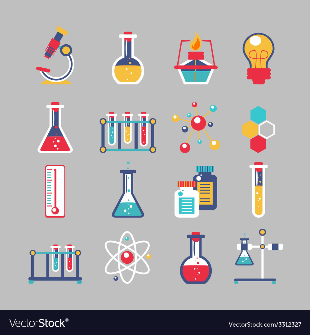 Chemistry icons set vector   Price: 1 Credit (USD $1)