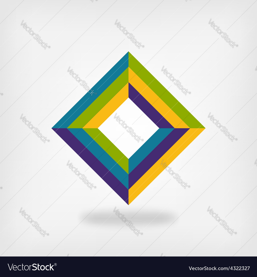 Colored square logo symbol vector | Price: 1 Credit (USD $1)