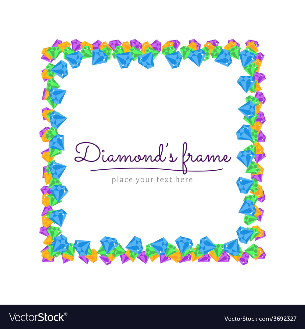 Diamond frame vector | Price: 1 Credit (USD $1)