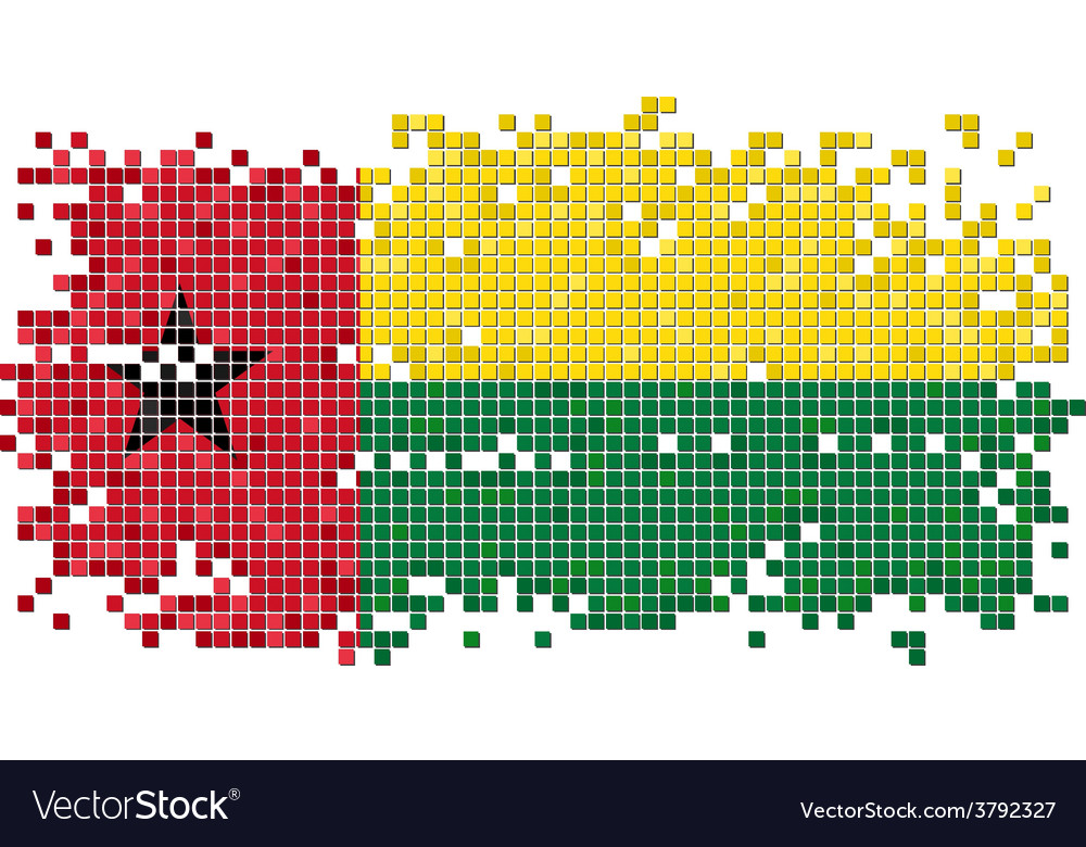 Guinea-bissau grunge tile flag vector   Price: 1 Credit (USD $1)