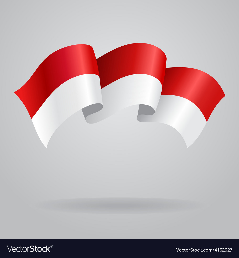 Indonesian waving flag vector | Price: 3 Credit (USD $3)