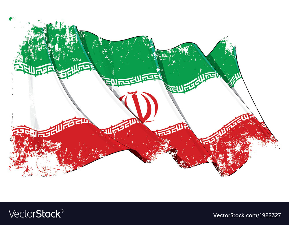 Iran flag grunge vector | Price: 1 Credit (USD $1)