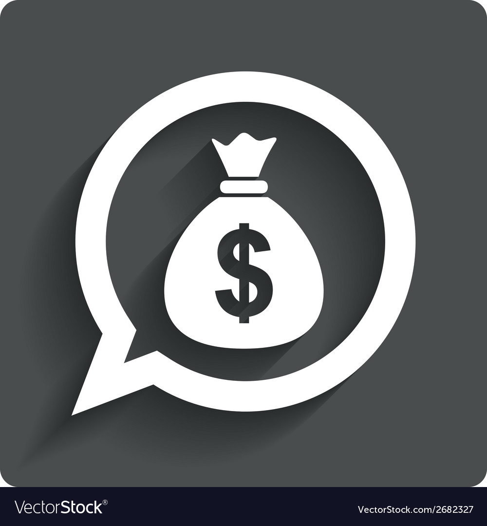 Money bag sign icon dollar usd currency vector | Price: 1 Credit (USD $1)