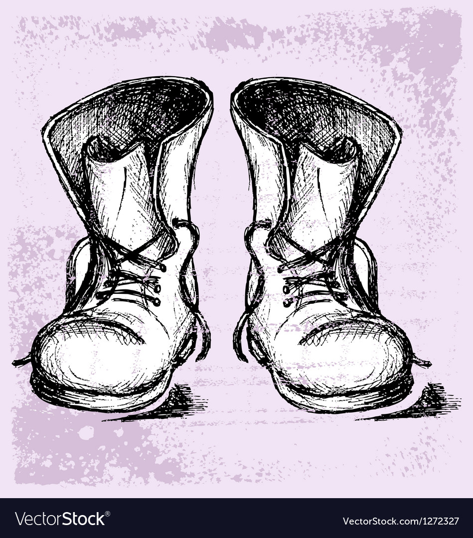 Old and dirty boots vector | Price: 1 Credit (USD $1)