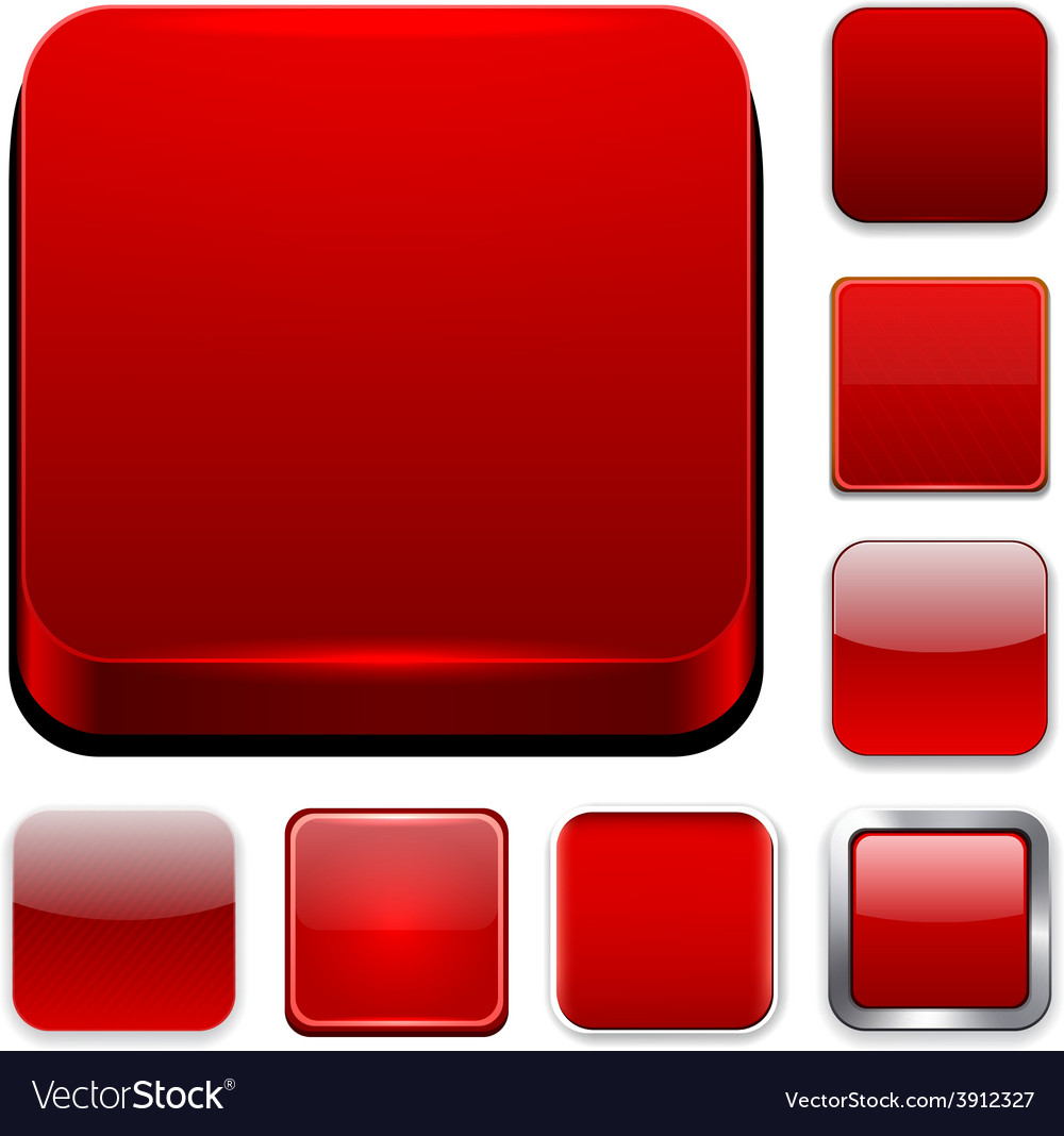 Square red app icons vector | Price: 1 Credit (USD $1)