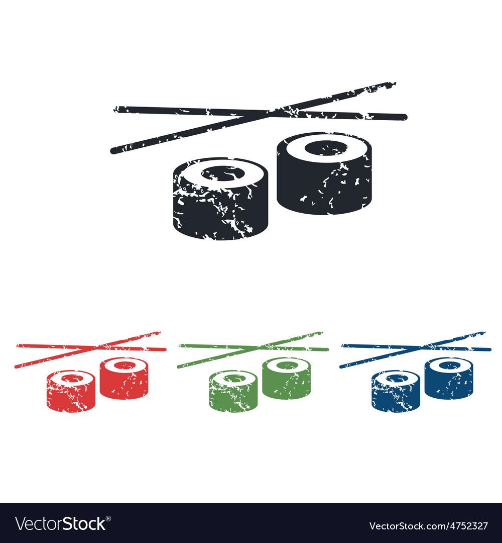 Sushi grunge icon set vector | Price: 1 Credit (USD $1)