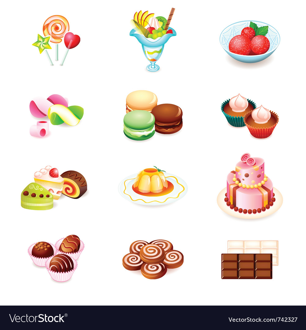 Sweets icons vector | Price: 3 Credit (USD $3)