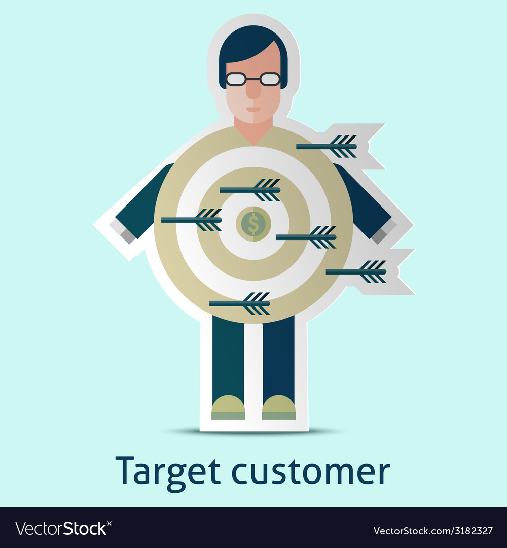 Target customer concept vector | Price: 1 Credit (USD $1)