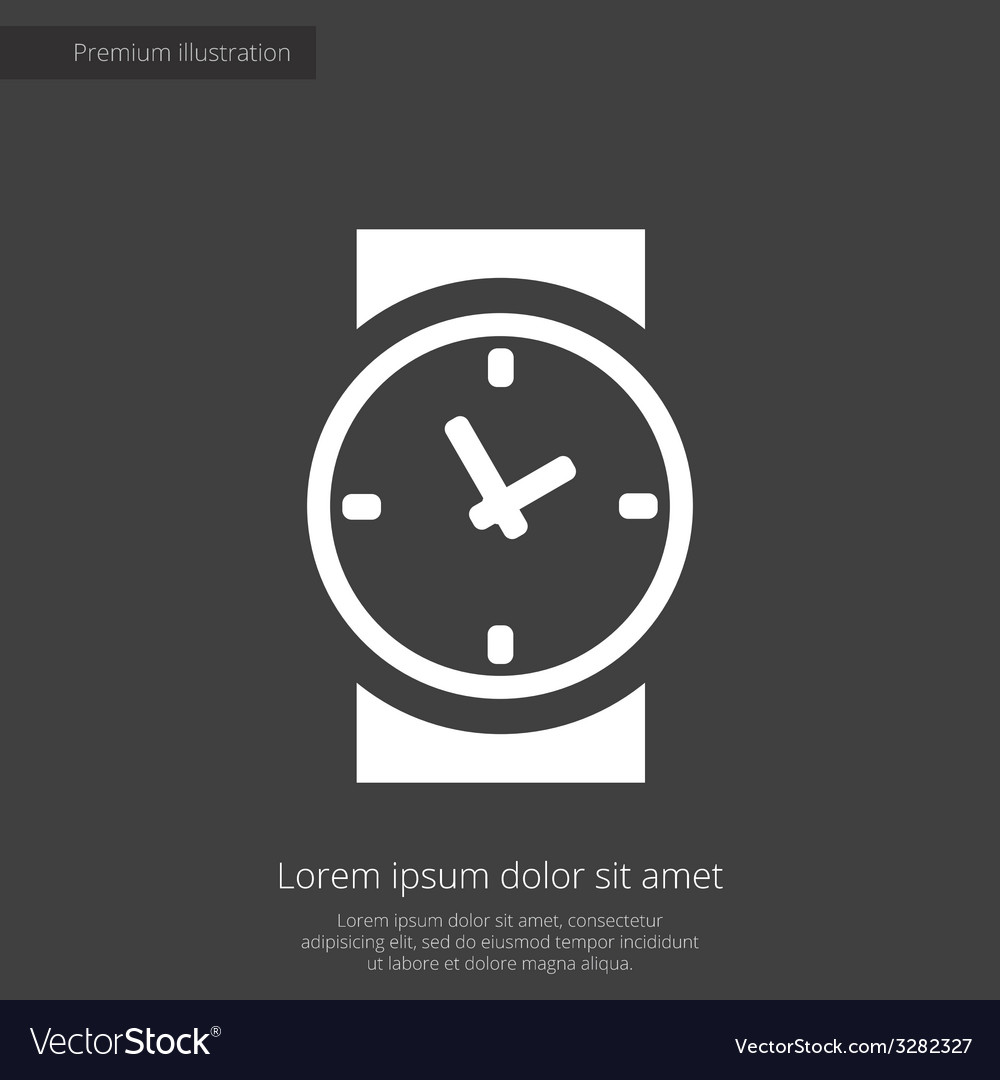 Time premium icon white on dark background vector | Price: 1 Credit (USD $1)