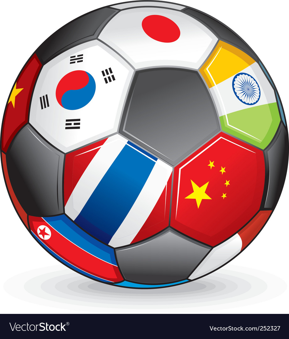 World soccer ball vector | Price: 3 Credit (USD $3)