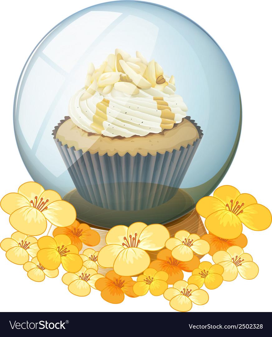 A cupcake inside the crystal ball vector | Price: 1 Credit (USD $1)