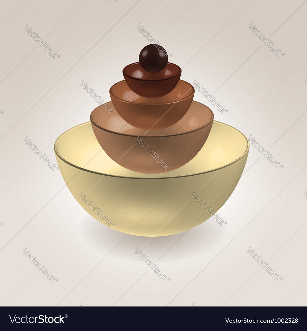 Chocolate cups vector | Price:  Credit (USD $)