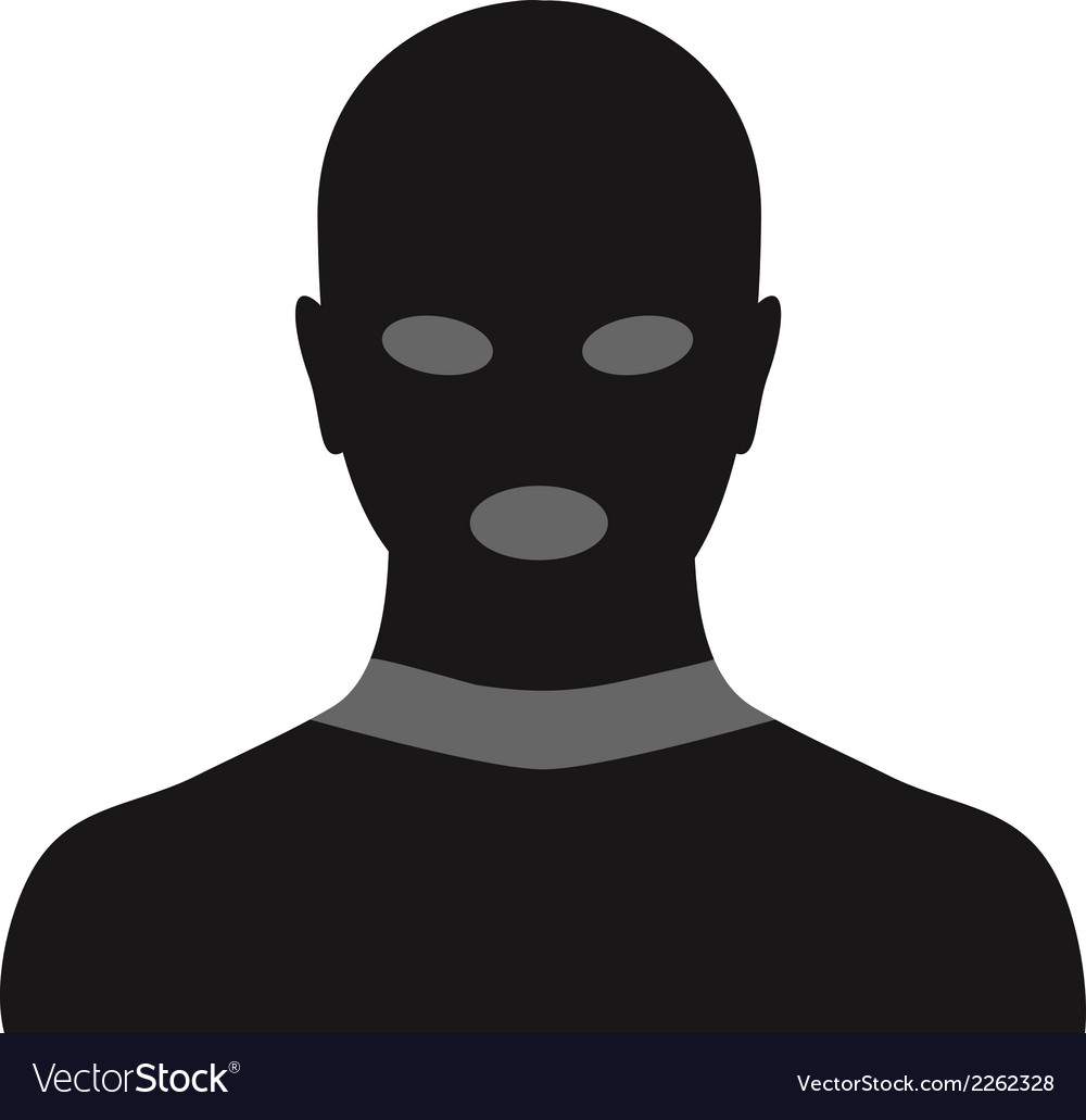 Criminal in mask vector | Price: 1 Credit (USD $1)