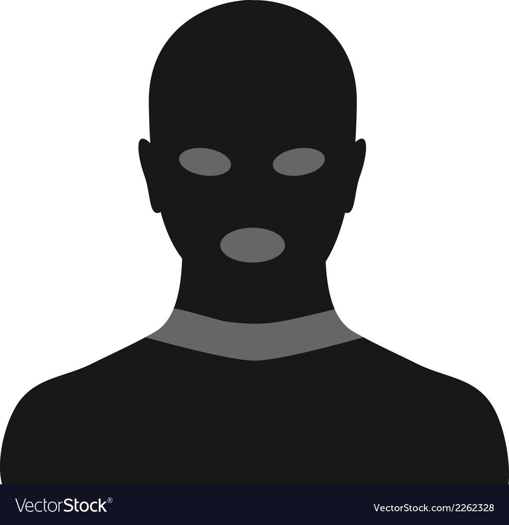 Criminal in mask vector | Price: 1 Credit (USD $1)