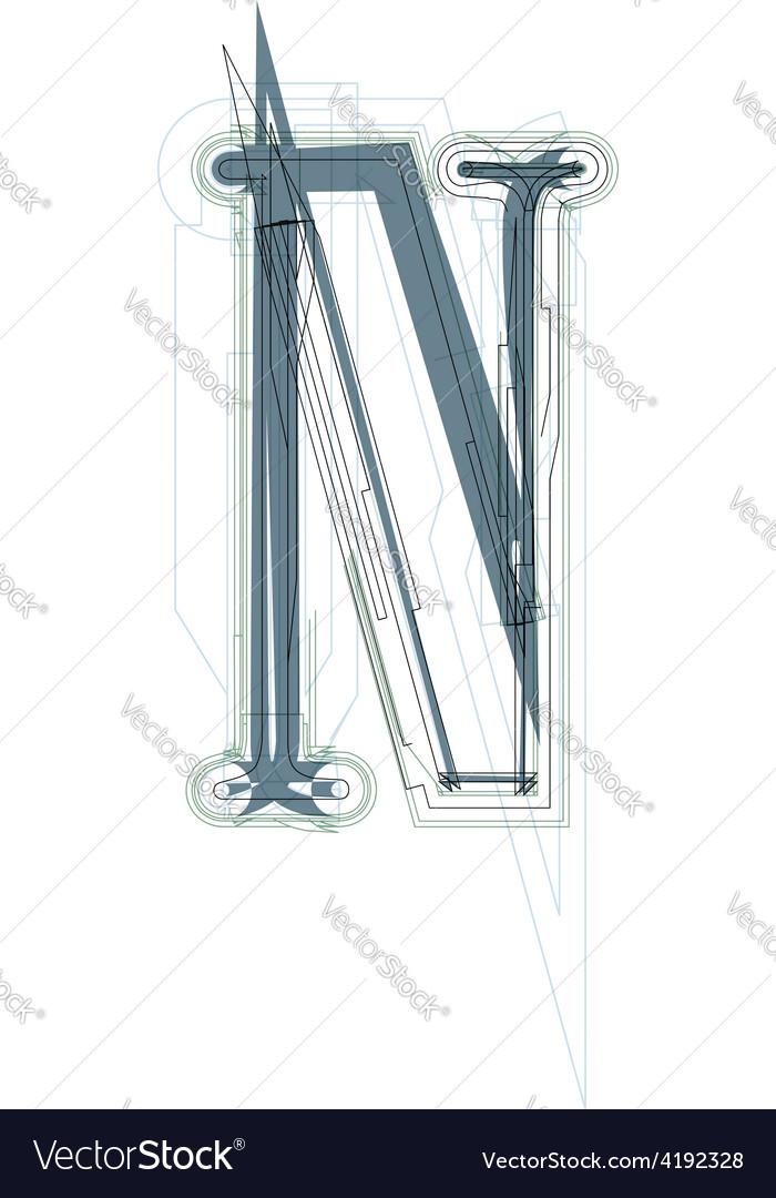 Font letter n vector   Price: 1 Credit (USD $1)