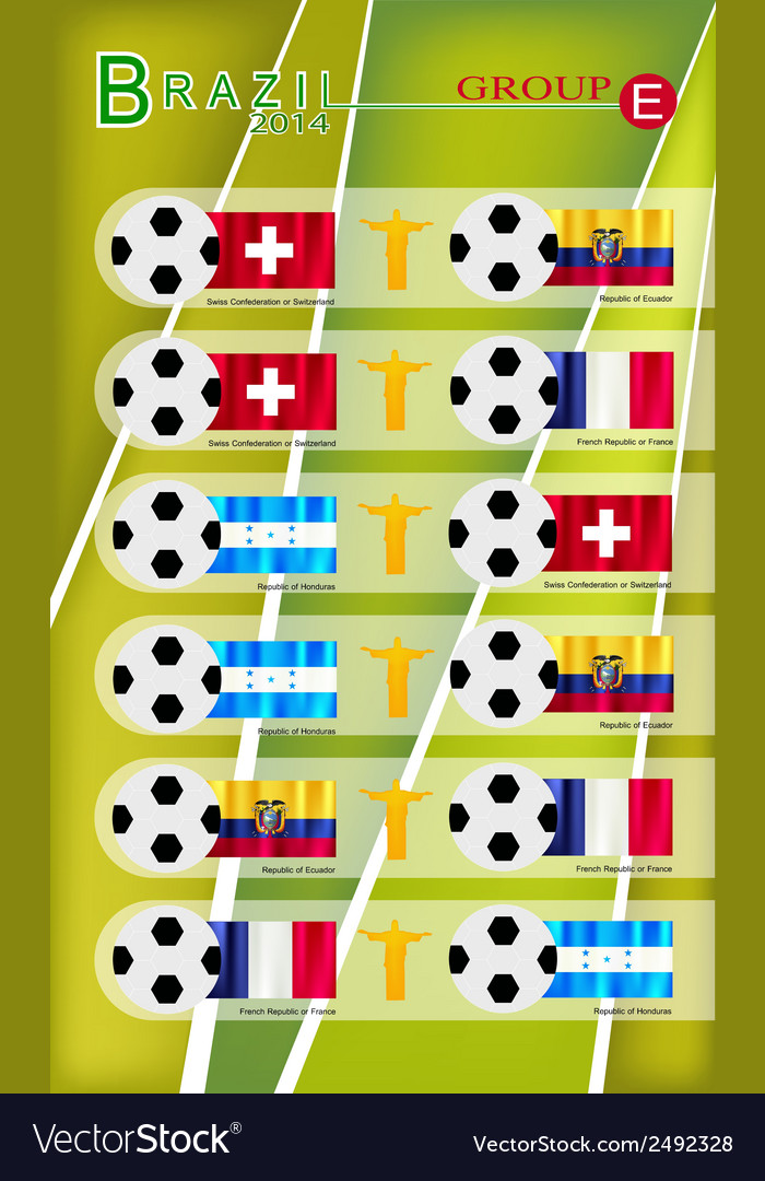 Football tournament of brazil 2014 group e vector | Price: 1 Credit (USD $1)