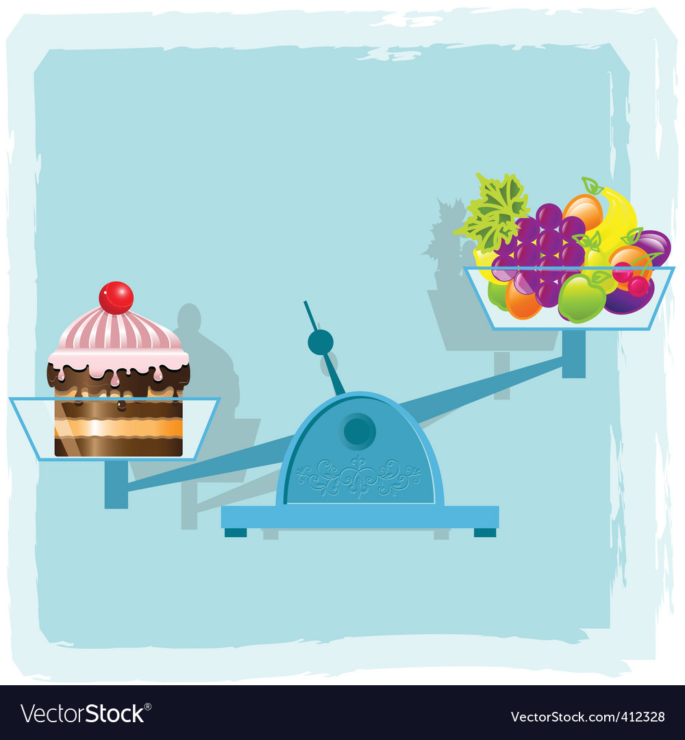 Fruits and cake vector | Price: 3 Credit (USD $3)