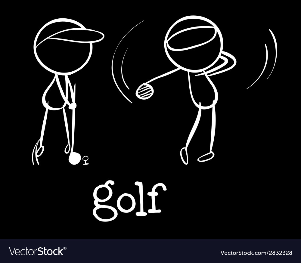 Golf players vector | Price: 1 Credit (USD $1)