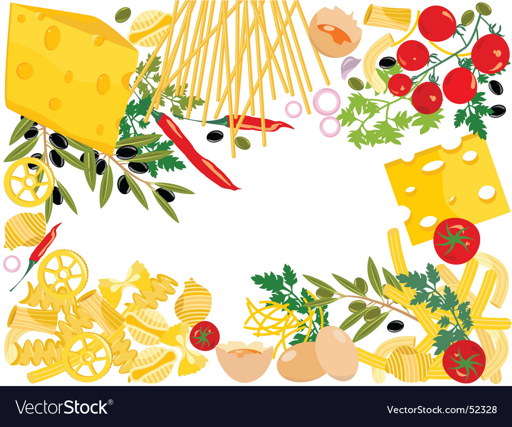 Pasta boarder vector | Price: 3 Credit (USD $3)