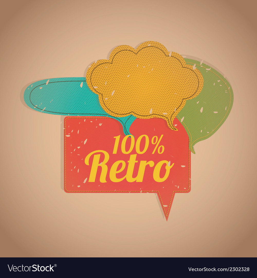 Retro speech bubbles vector | Price: 1 Credit (USD $1)