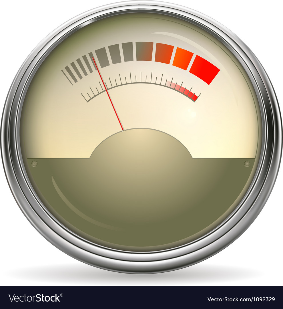 Audio gauge vector | Price: 1 Credit (USD $1)