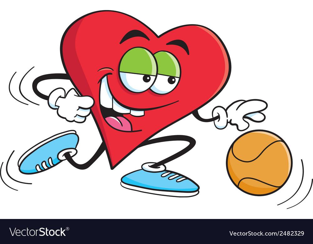 Cartoon basketball heart vector | Price: 1 Credit (USD $1)