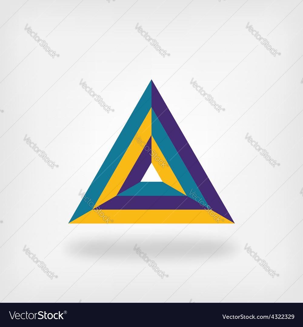 Colored triangle logo symbol vector | Price: 1 Credit (USD $1)