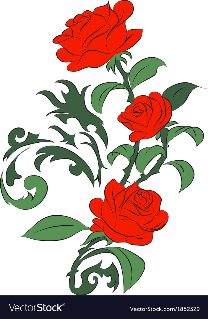 Red roses vector | Price: 1 Credit (USD $1)