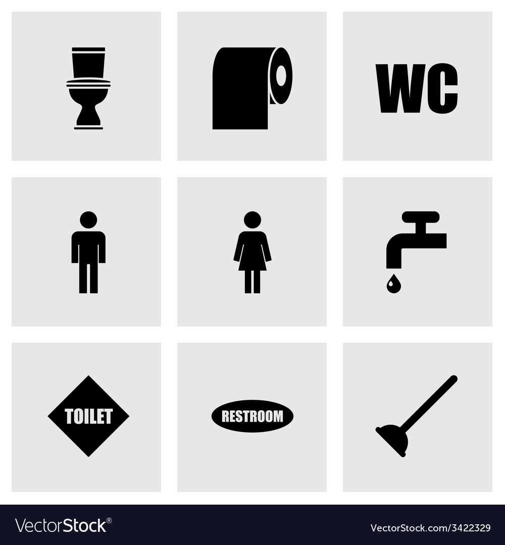 Toilet icon set vector | Price: 1 Credit (USD $1)