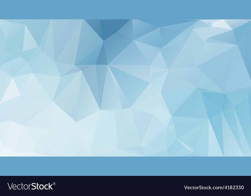Blue light polygonal mosaic background vector | Price: 1 Credit (USD $1)