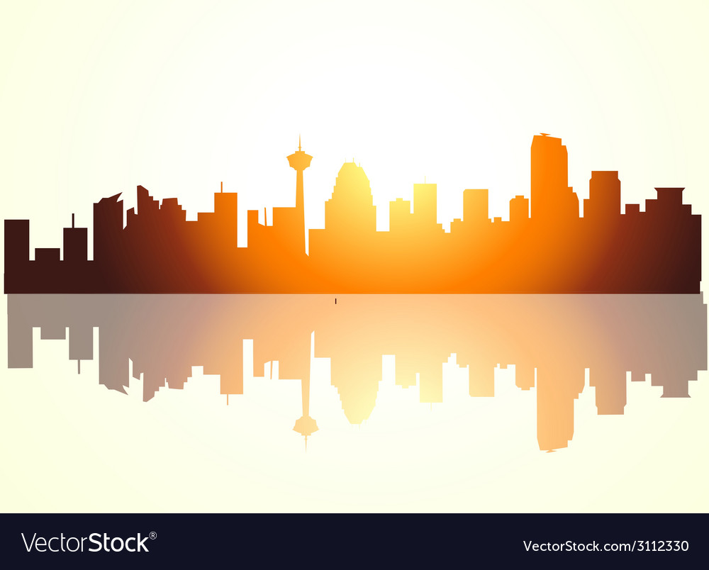 Calgary morning vector | Price: 1 Credit (USD $1)