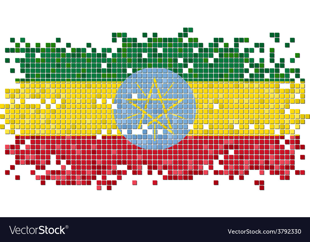 Ethiopian grunge tile flag vector | Price: 1 Credit (USD $1)