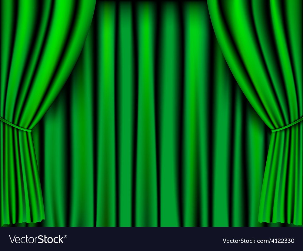 Green curtain vector | Price: 1 Credit (USD $1)