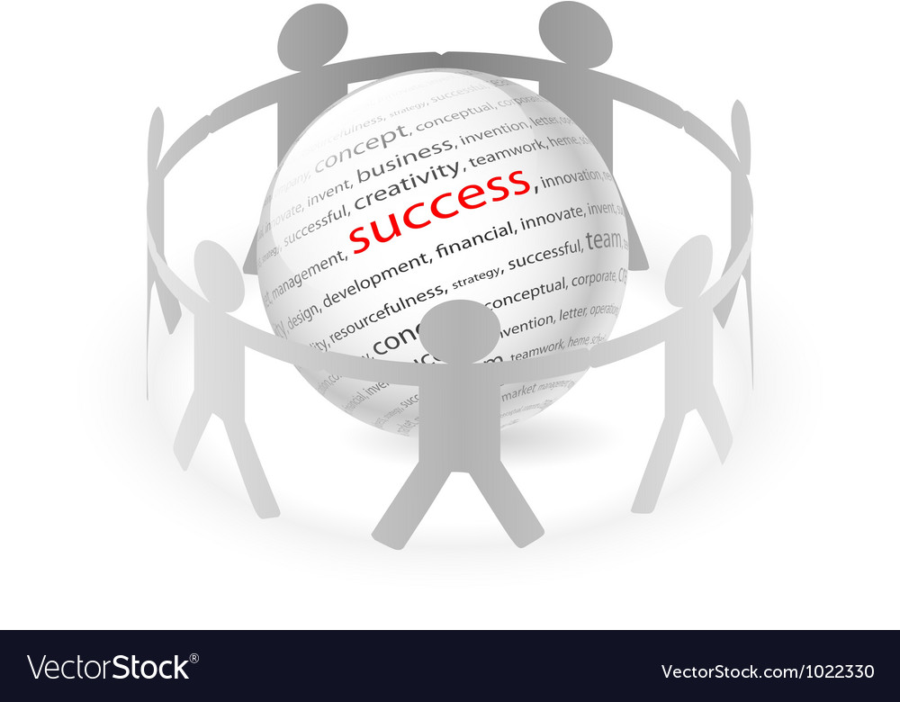 People chain succes vector | Price: 1 Credit (USD $1)