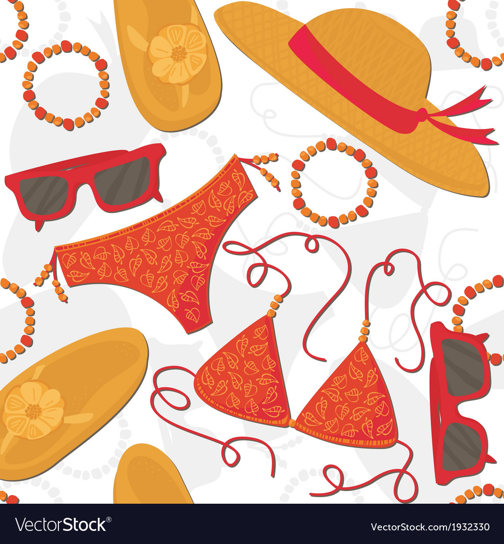 Summer outfit background vector | Price: 1 Credit (USD $1)