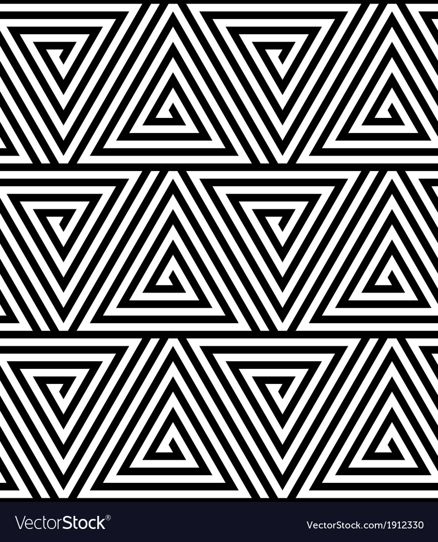 Triangles black and white abstract seamless vector | Price: 1 Credit (USD $1)