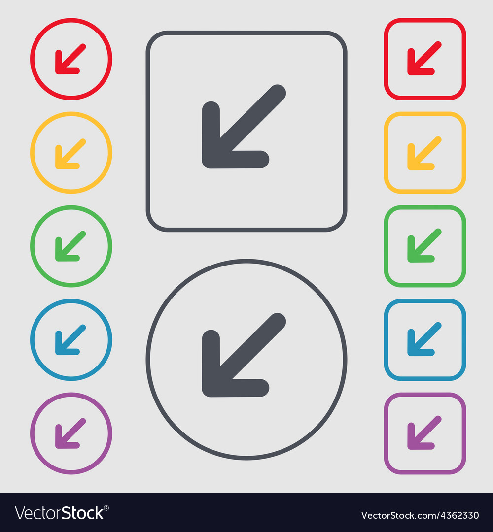 Turn to full screenicon sign symbol on the round vector | Price: 1 Credit (USD $1)