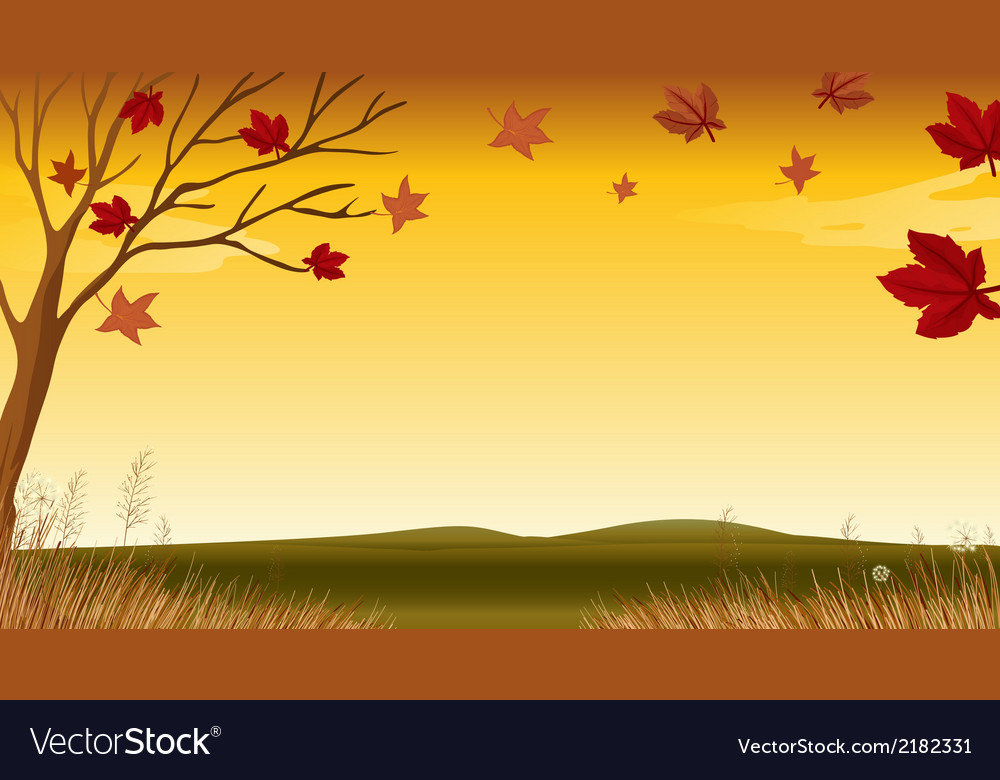 A view of an autumn vector | Price: 1 Credit (USD $1)