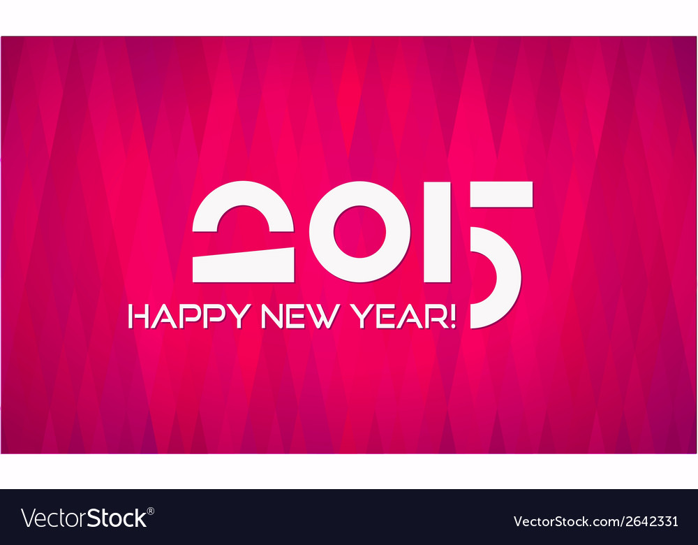 Abstract minimalistic flat happy new year 2015 vector | Price: 1 Credit (USD $1)