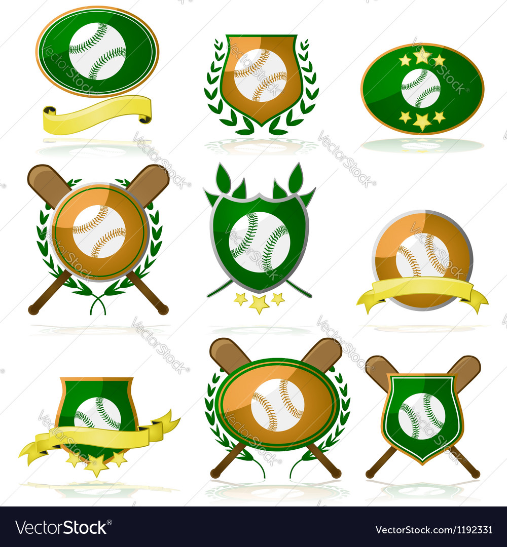 Baseball badges vector | Price: 1 Credit (USD $1)