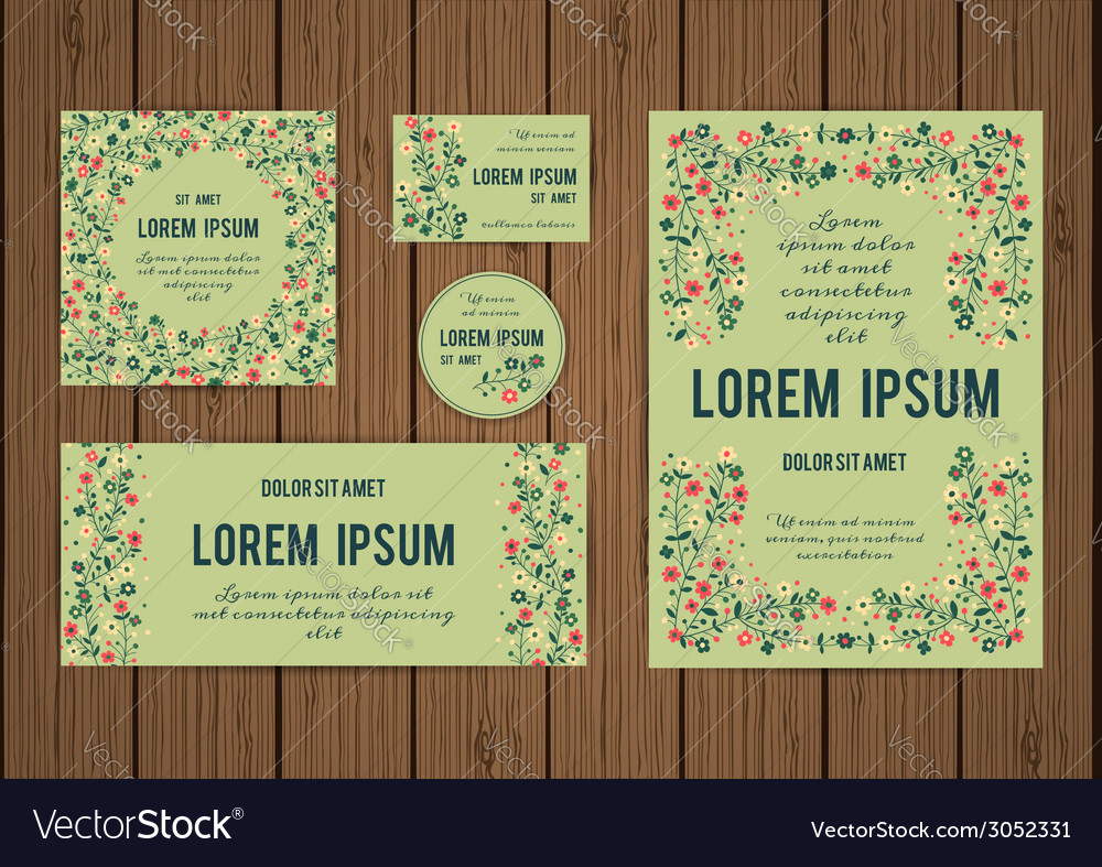 Corporate identity templates with border of vector | Price: 1 Credit (USD $1)