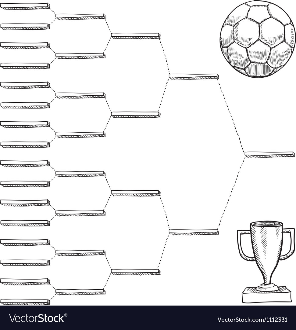Doodle sports bracket wc vector | Price: 1 Credit (USD $1)