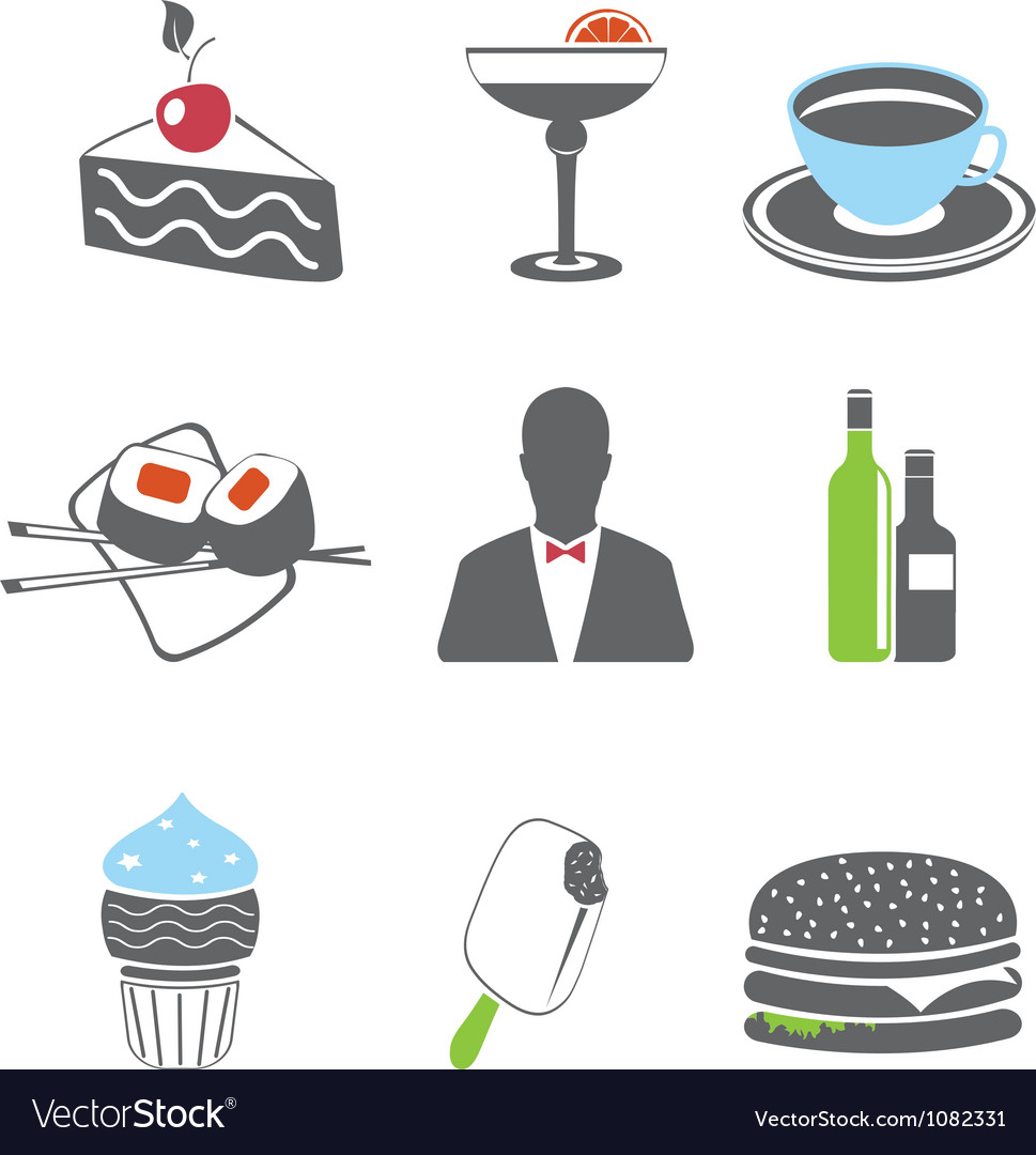 Foof icons set vector | Price: 1 Credit (USD $1)