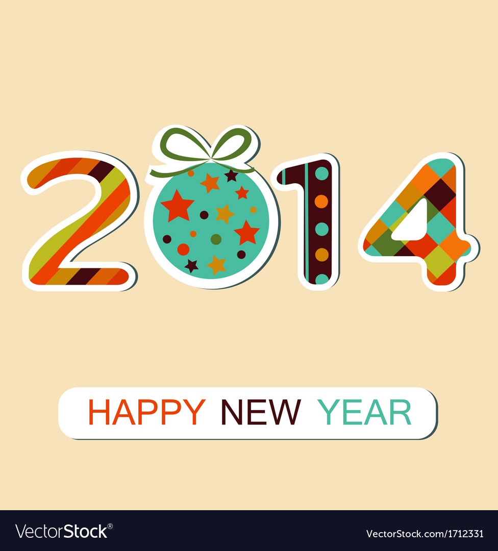 Happy new year 2014 celebration background vector | Price: 1 Credit (USD $1)