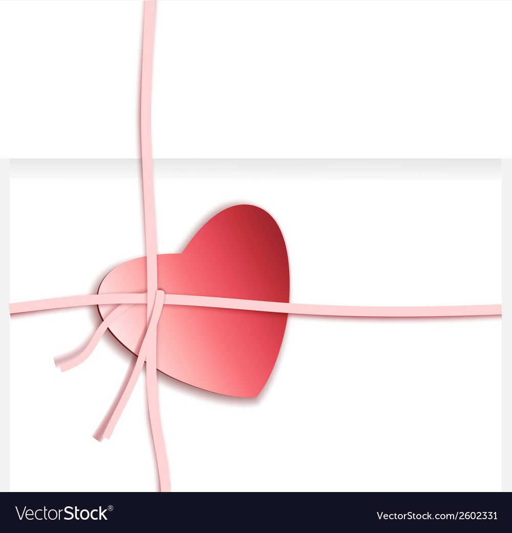 Heart present box vector | Price: 1 Credit (USD $1)