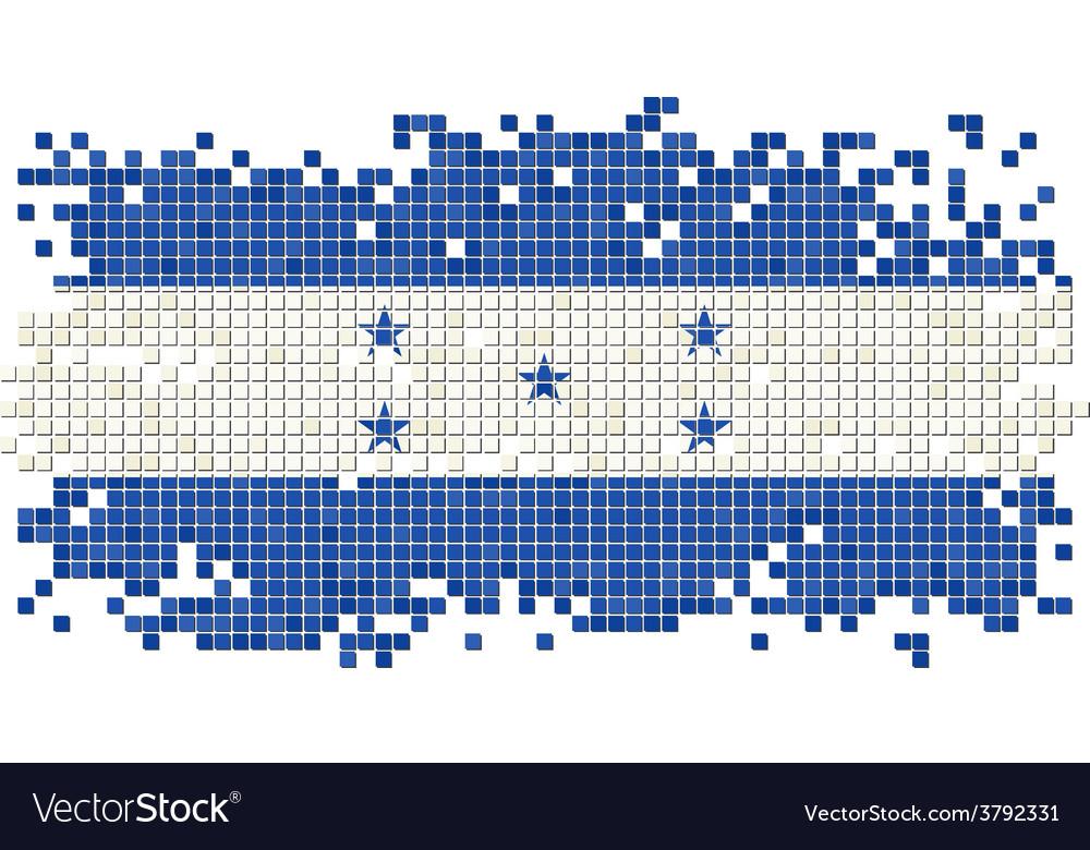 Honduras grunge tile flag vector | Price: 1 Credit (USD $1)
