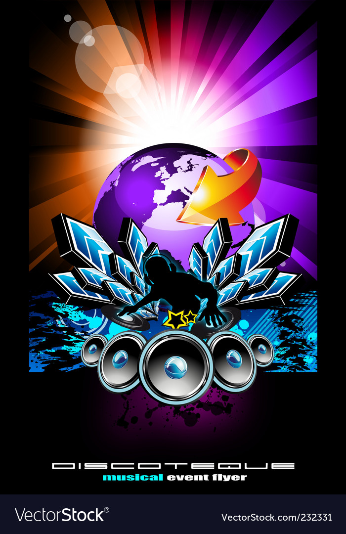 International music event vector | Price: 3 Credit (USD $3)